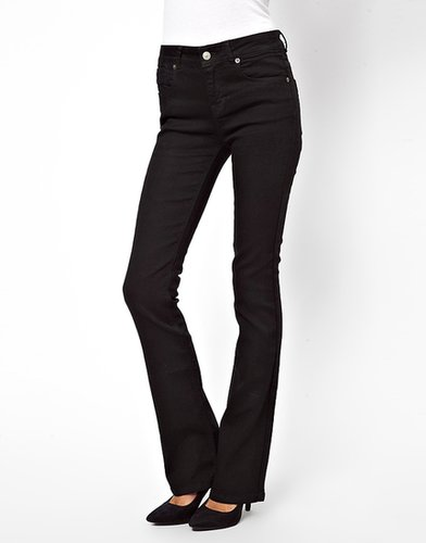 ASOS Lennox Kick Flare Jeans in Clean Black