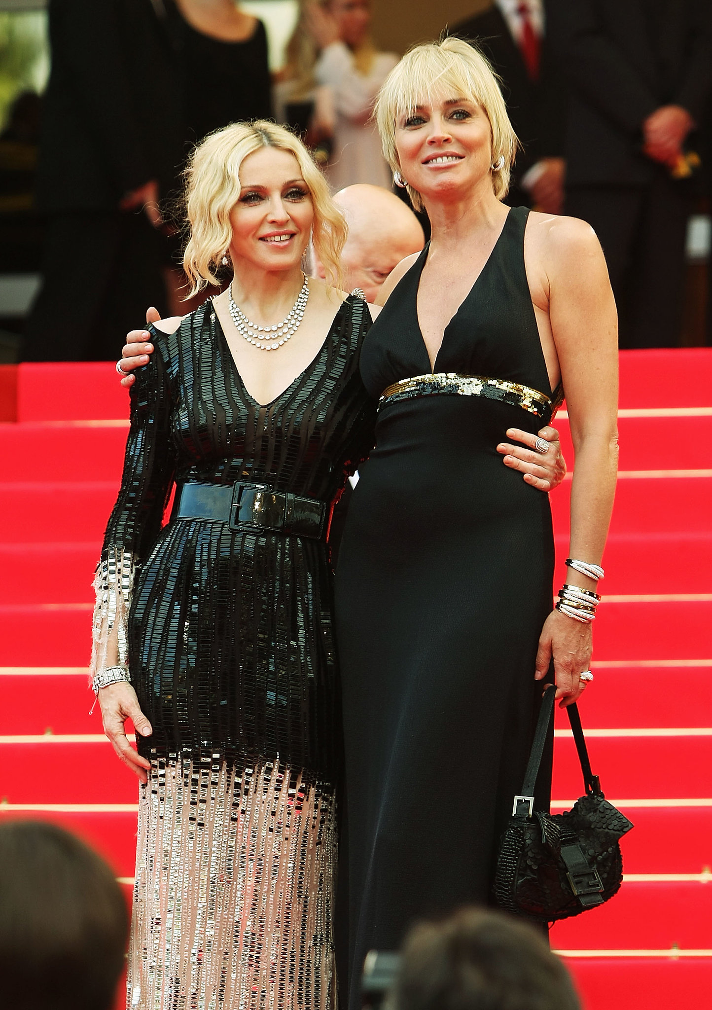 Madonna-linked-up-Sharon-Stone-Cannes-Fi