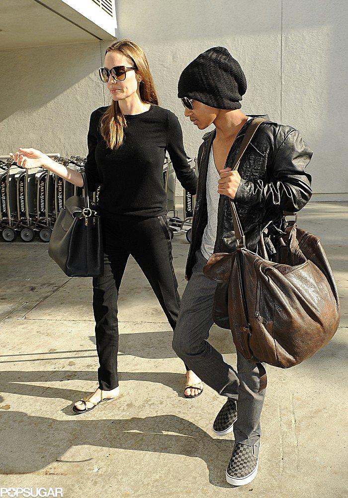 Angelina Jolie Returns Home With Her Mini Brad Pitt