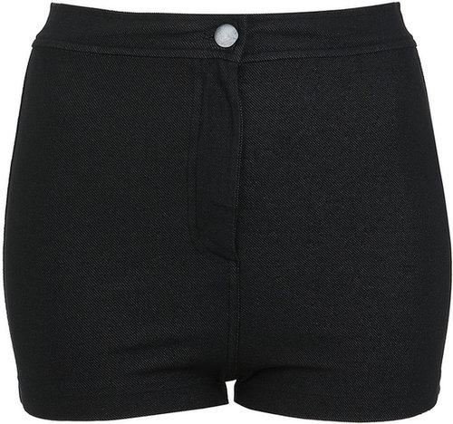 Schwarze Disco-Jeans-Shorts
