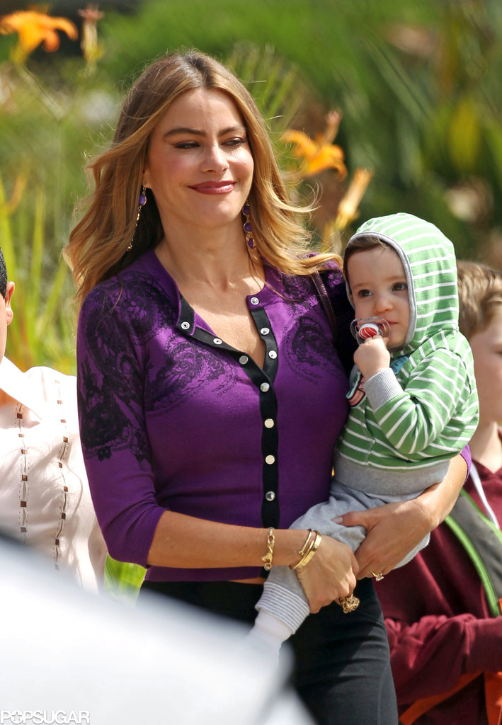 Sofia Vergara held her TV baby w