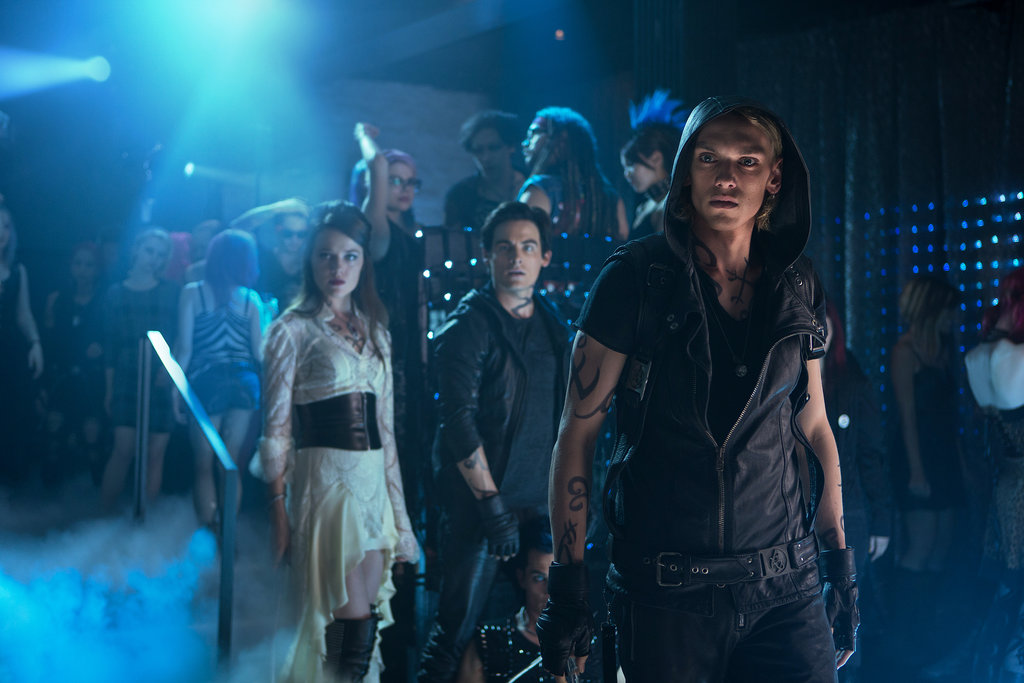 Jemima West, Kevin Zegers, and Jamie Campbell Bower in The Mortal Instruments: City of Bones.