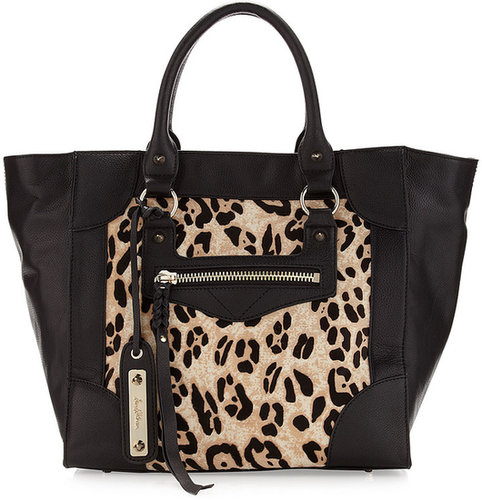 Sam Edelman Porter Snow Leopard Calf Hair Tote Bag