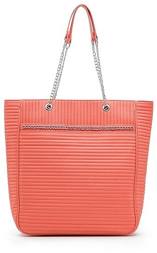 TOUCH - Quilted chain shopper bag