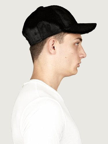 Acne Men's Black Camp Pony Cap