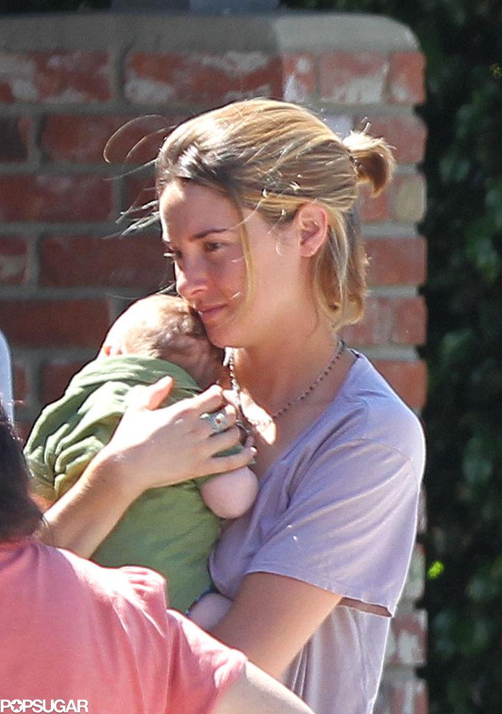 Shailene Woodley held a friend's baby.
