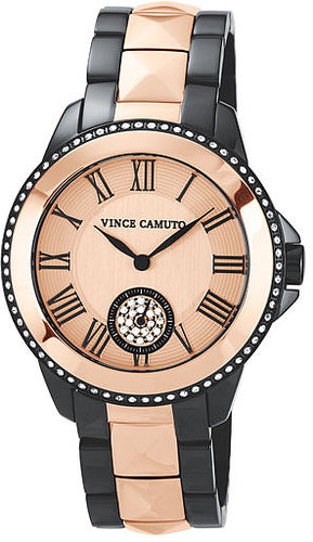 Vince Camuto Pyramid Bracelet Watch, 38mm Rose Gold/ Gunmetal