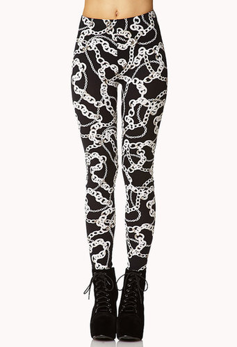 FOREVER 21 Luxe Chain Leggings
