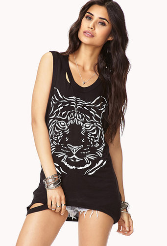 FOREVER 21 Cutout Tiger Tank
