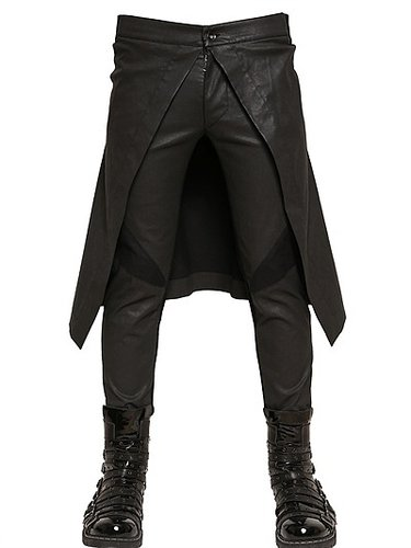 Gareth Pugh - 18cm Stretch Waxed Light Denim Panelled