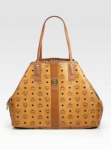 MCM Liz Reversible Canvas & Leather Shopper Bag