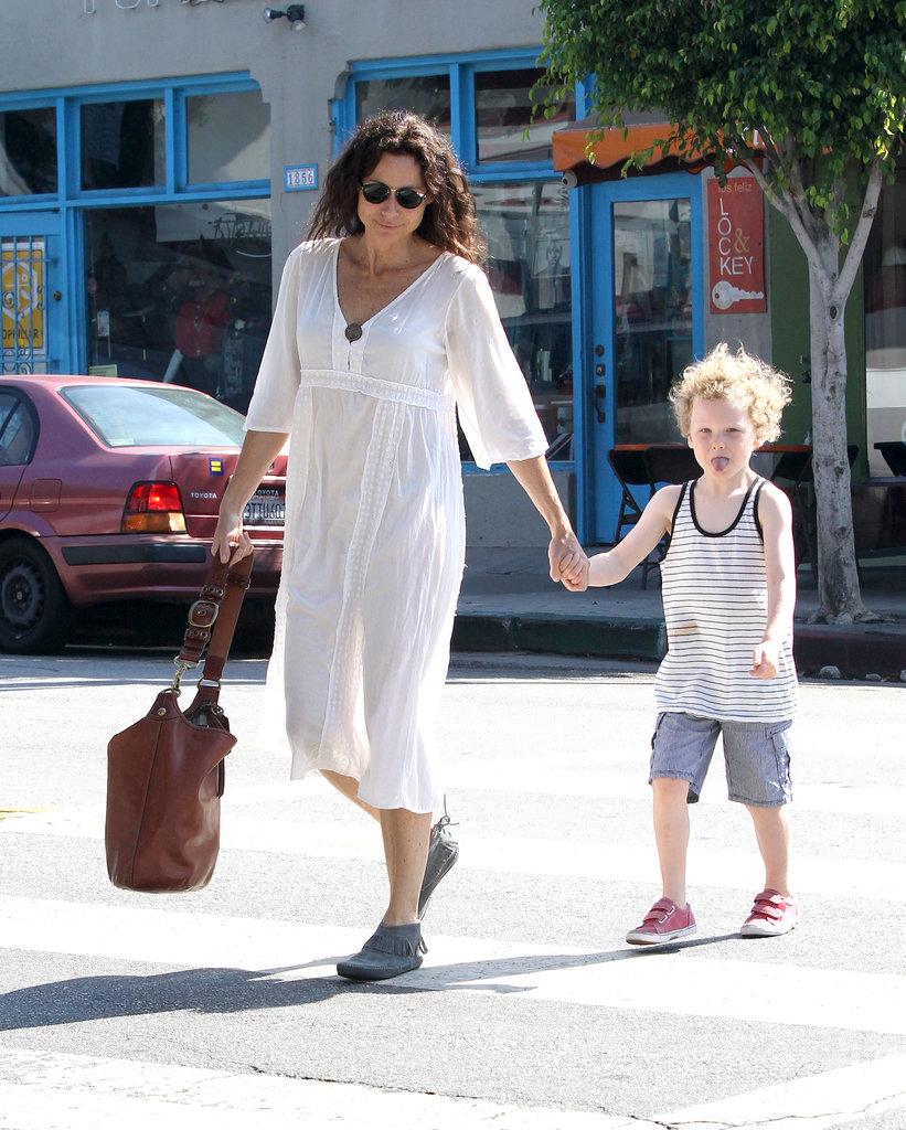 Minnie Driver and her son, Henry, had breakfast in LA on Friday.