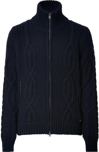 Woolrich Wool Blend Peak Cardigan in Navy