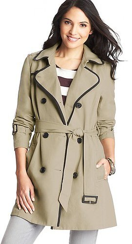 Tipped Cotton Canvas Trench