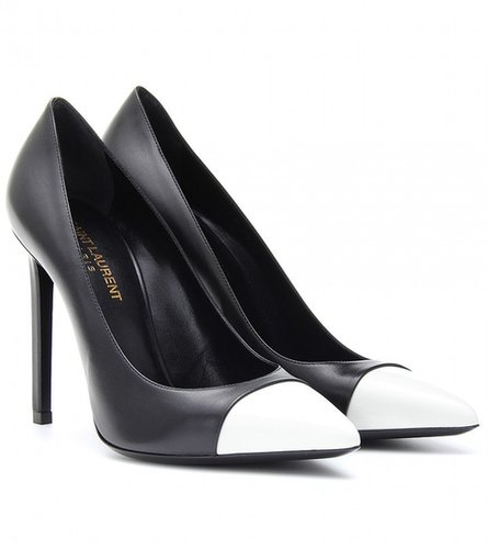 Saint Laurent TWO-TONE LEATHER PUMPS