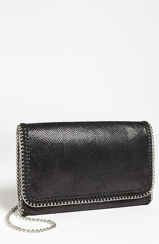 Tarnish 'Lizard Chain' Clutch Black/ Silver