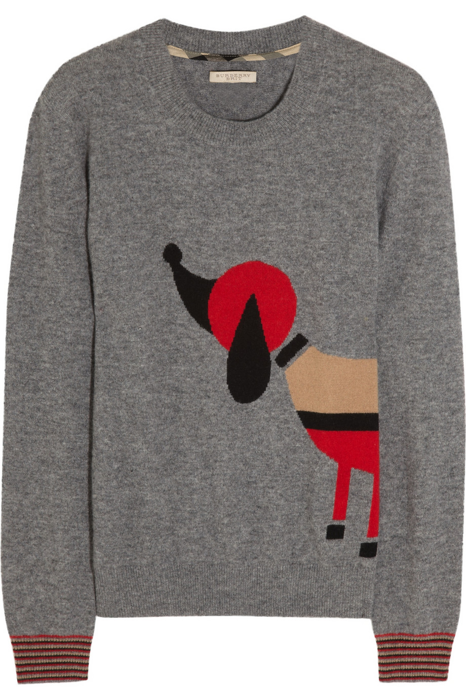As cozy as it is cute, we just added this Burberry Brit Dog-Instarsia Wool Sweater ($495) to our shopping list.