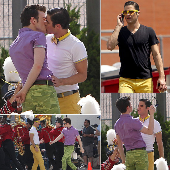 Chris Colfer and Darren Criss Start Glee's Fifth Season With a Smooch