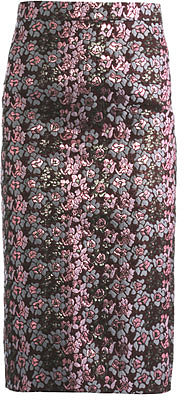 House Of Holland Metallic floral jacquard pencil skirt