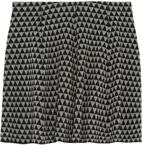 Karl Lagerfeld Geometric merino wool intarsia mini skirt