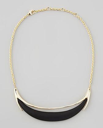 Alexis Bittar Neo Boho Minimalist Crescent Lucite Necklace