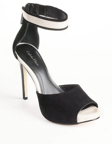 CALVIN KLEIN Phylicia Suede D'Orsay Ankle-Strap Heels