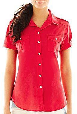 i jeans by Buffalo Tabbed Short-Sleeve Shirt
