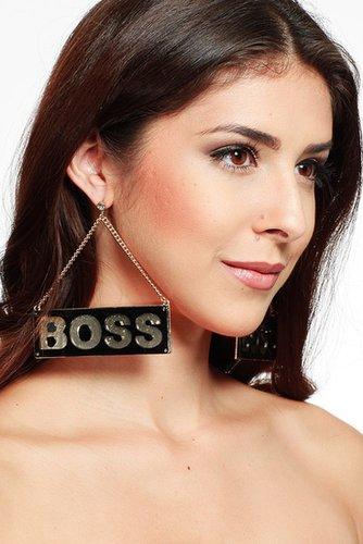 Boss Plate Earrings