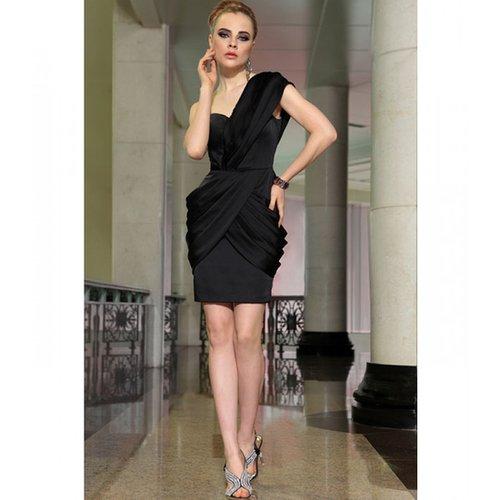 Black Satin Dress, short