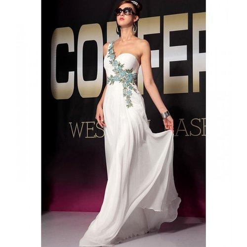 Long white satin dress