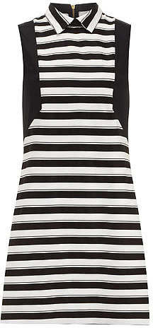 Black/white stripe shift dress