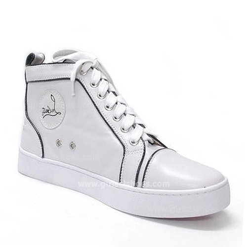 Hot White Christian Louboutin Sneakers Pony Sale