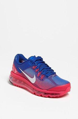Nike 'Air Max+ 2013 Premium' Running Shoe (Women) Pink/ Blue 6.5 M