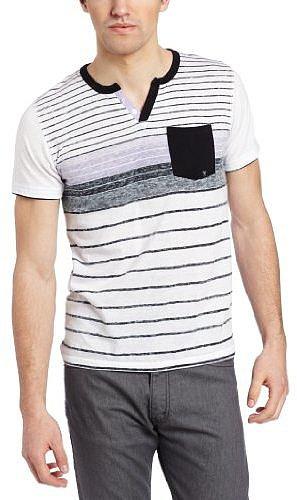 Marc Ecko Cut & Sew Men's Reverse Printed Stripe Short Sleeve Knit