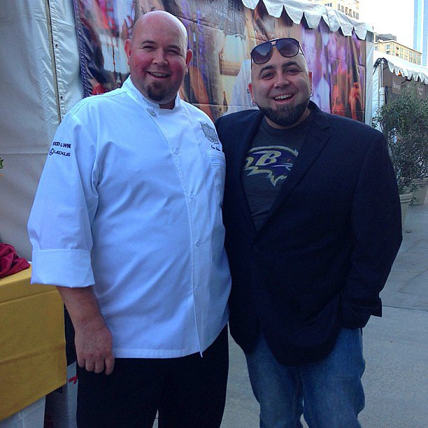 Notice any resemblance between the two chefs? Duff Goldman snapped a photo with Ken Biffar.  Source: Instagram user kenbiffar