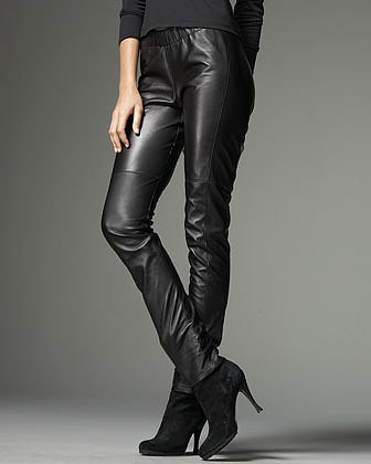 Neiman Marcus Stretch Leather Leggings
