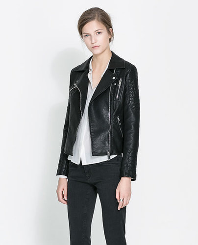 Image 2 of MOTORCYCLE JACKET WITH ZIPS from Zara
