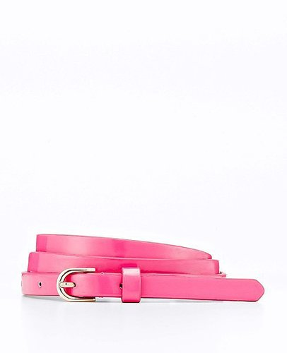 Perfect Patent Skinny Belt