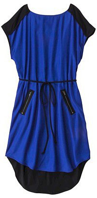 Mossimo® Women's Short Sleeve Dress w/Zippered Pockets - Athens Blue/Black