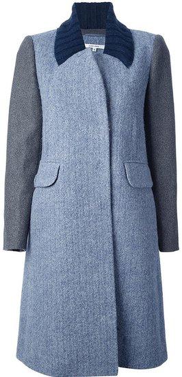 Carven bi-colour coat