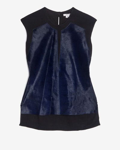 Helmut Lang Lucent Fur Sleeveless Top