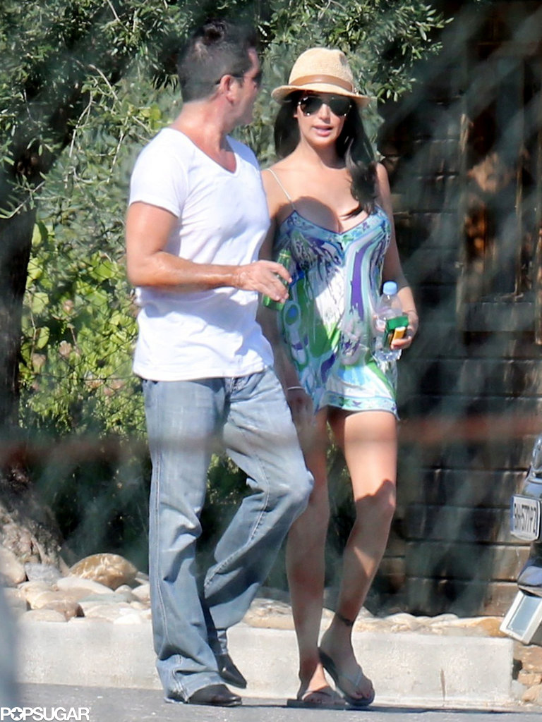 Simon Cowell reunited with pregnant Lauren Silverman in the South of France.
