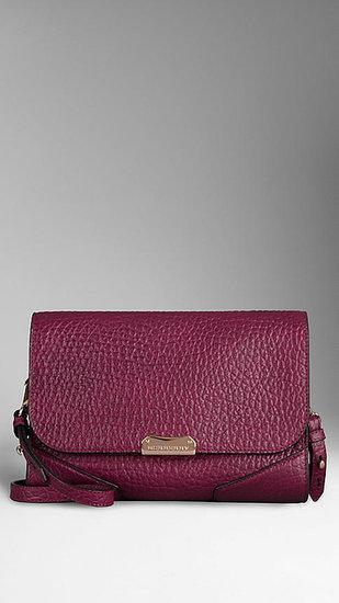 Small Heritage Grain Leather Crossbody Bag