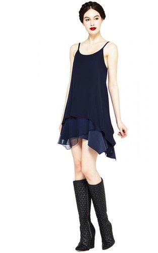 Anika Layered Asymetrical Drop Waist Dress