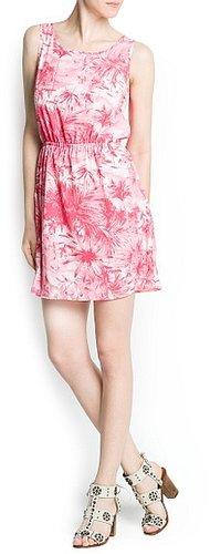 Palms print dress