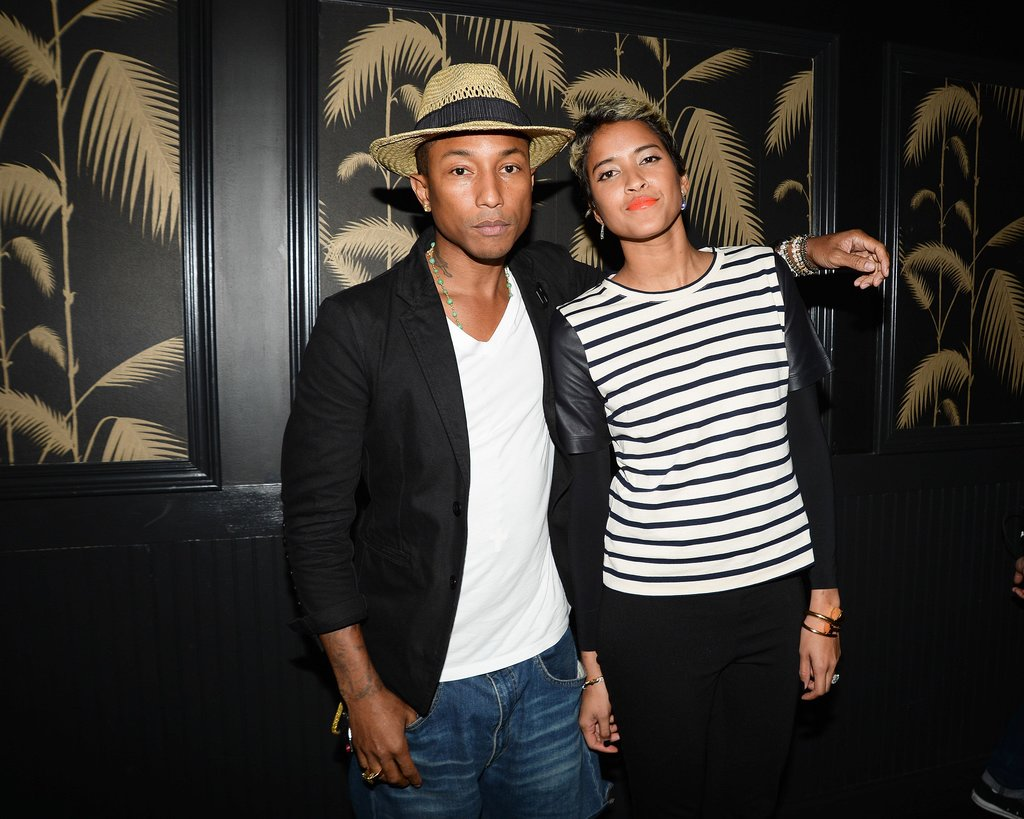 Pharrell Williams hung out with his fiancée, Helen Lasichanh, at the VMAs afterparty.