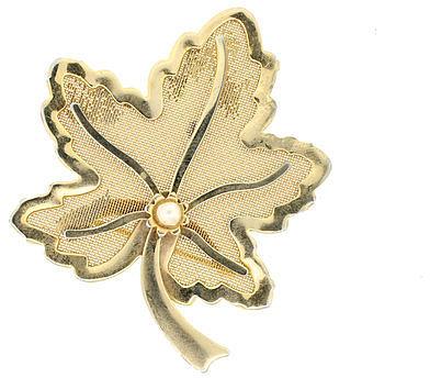Lanie Lynn Vintage Jewelry Gold Leaf Brooch