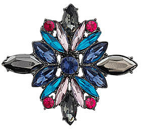 Colourful flower brooch