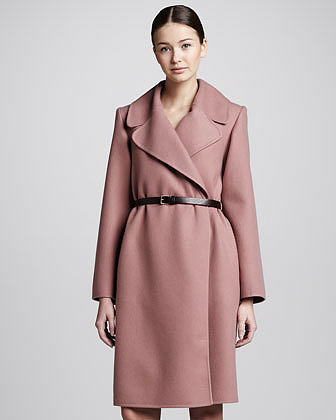 Marc Jacobs Double-Face Cashmere Coat, Rose
