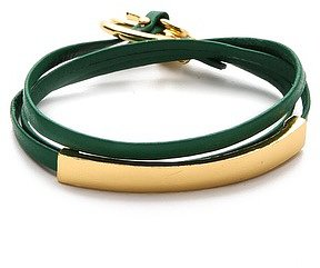 Gorjana Graham Leather ID Wrap Bracelet